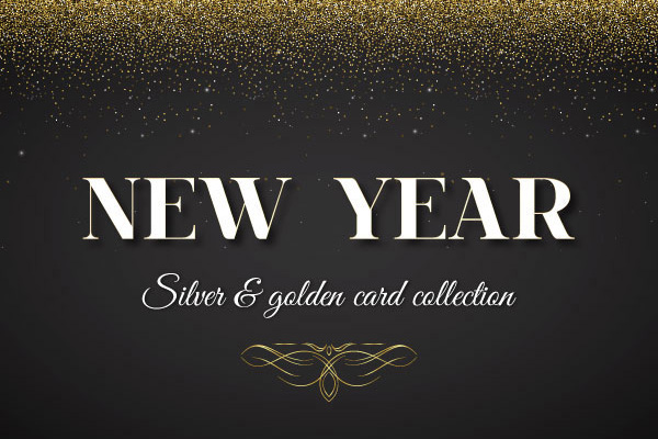 New Year Silver & Golden Card Collection