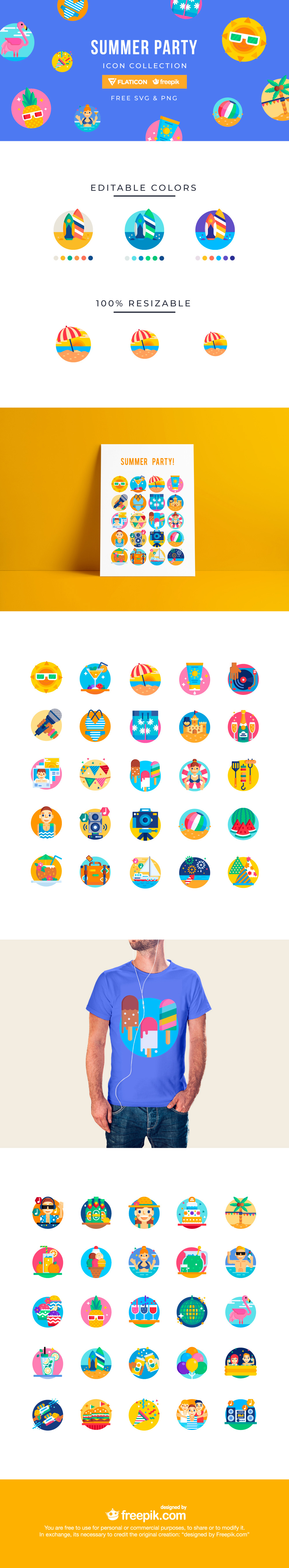 Summer Party Icon Collection