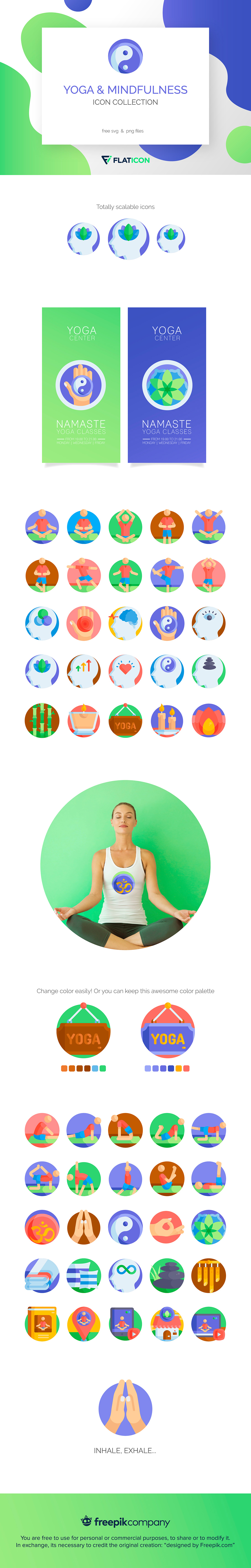 Yoga & Mindfulness Icon Collection