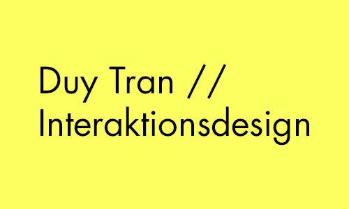 Duy Tran // IAD