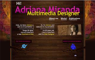 Portafolio of Adriana Miranda - Web Designer