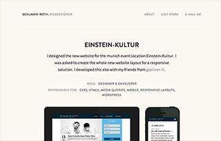 Benjamin Roth. Webdesigner