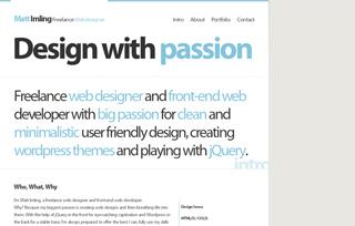 Matt Imling Freelance Webdesigner