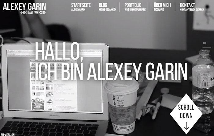 Alexey Garin Personal Site