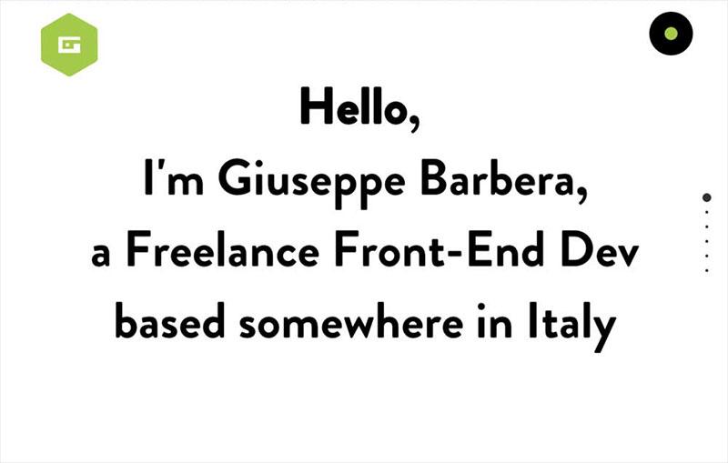 Giuseppe Barbera Portfolio