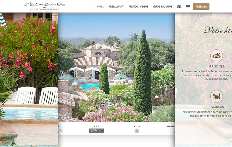 Hotel provence css winner for Hotel design provence