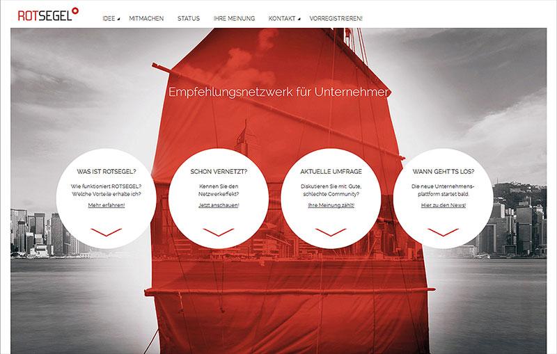 Rotsegel Unternehmensnetzwerk