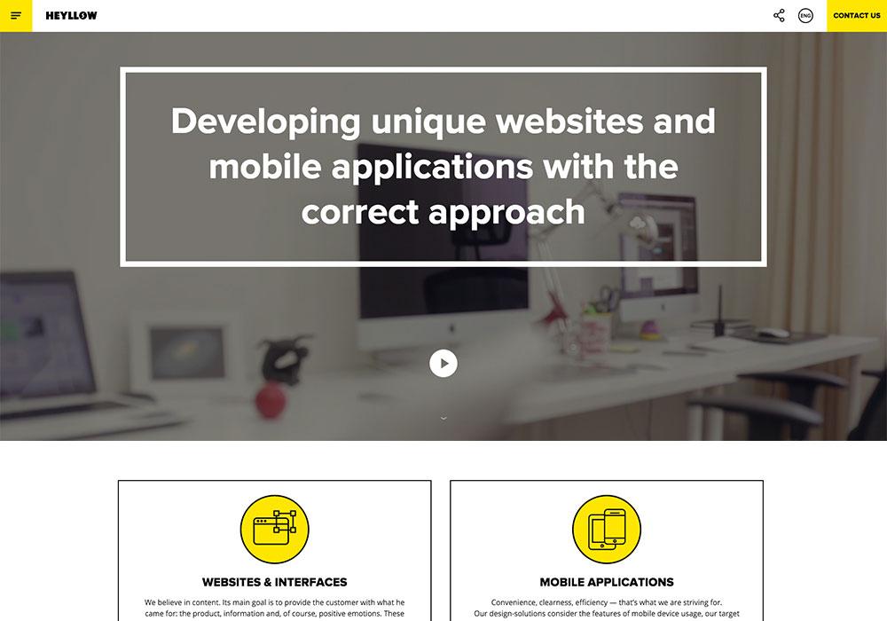 Heyllow Promo Website
