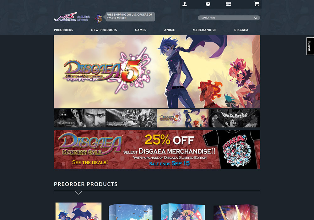 NIS America Online Store