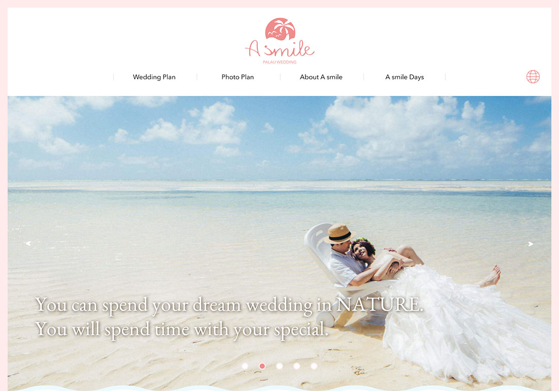 Palau Wedding A smile