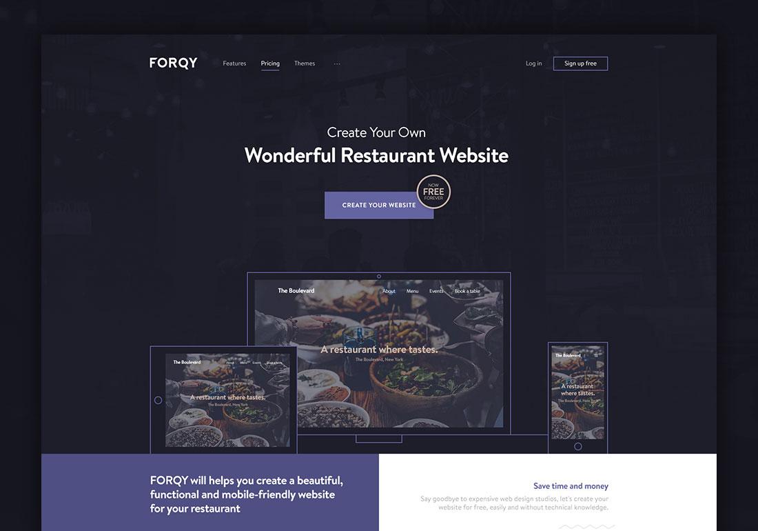FORQY Wonderful restaurant websites