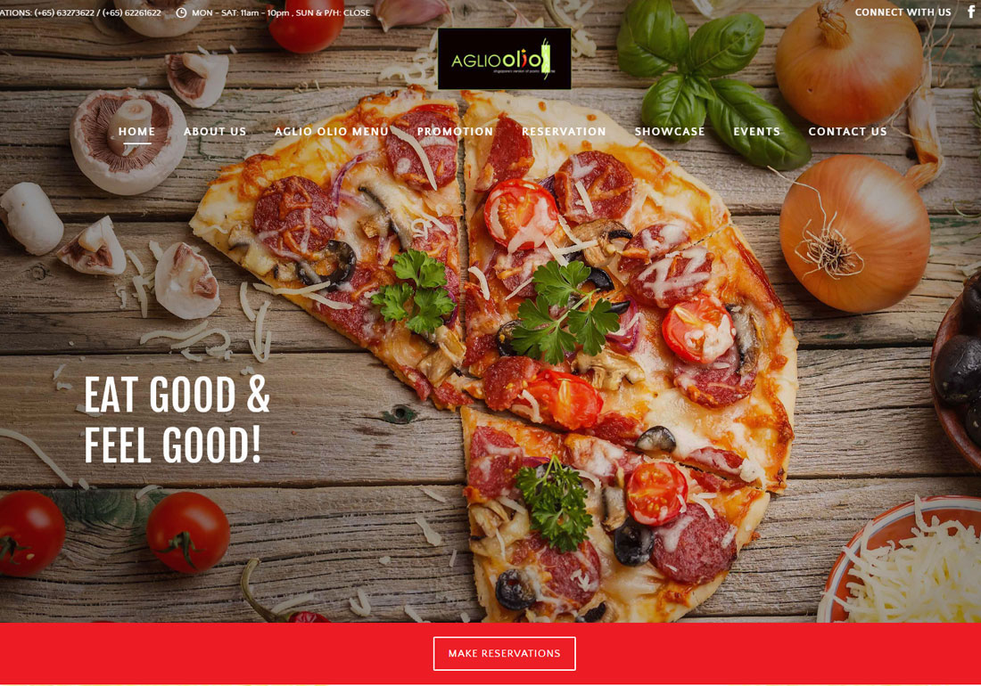 Aglioolio Website Revamping