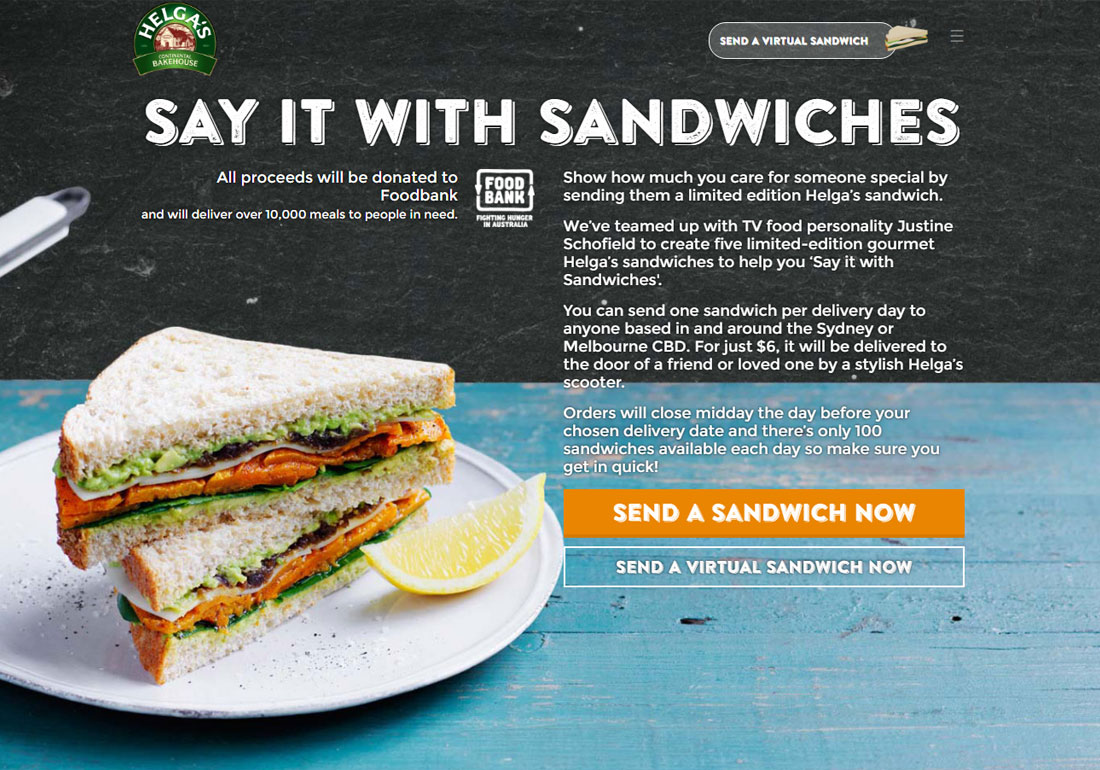 Helga's Say It With Sandwiches