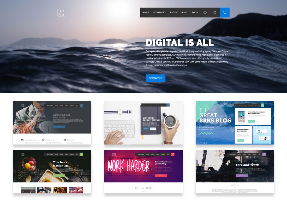 Brooks – Creative WordPress Theme