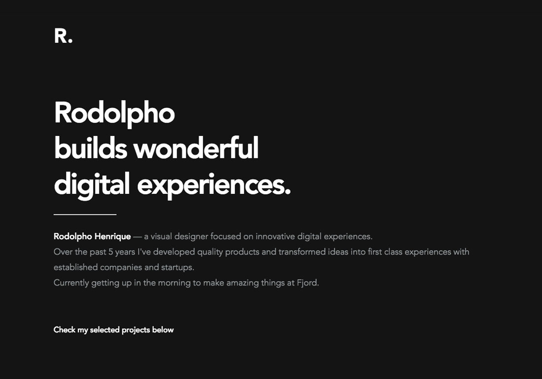 Rodolpho Henrique - Visual Designer