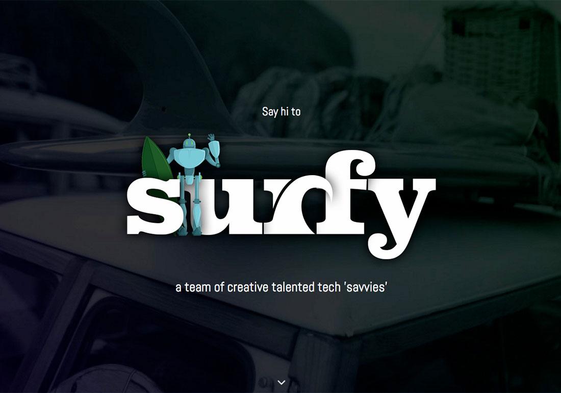 Surfy - Mobile web development