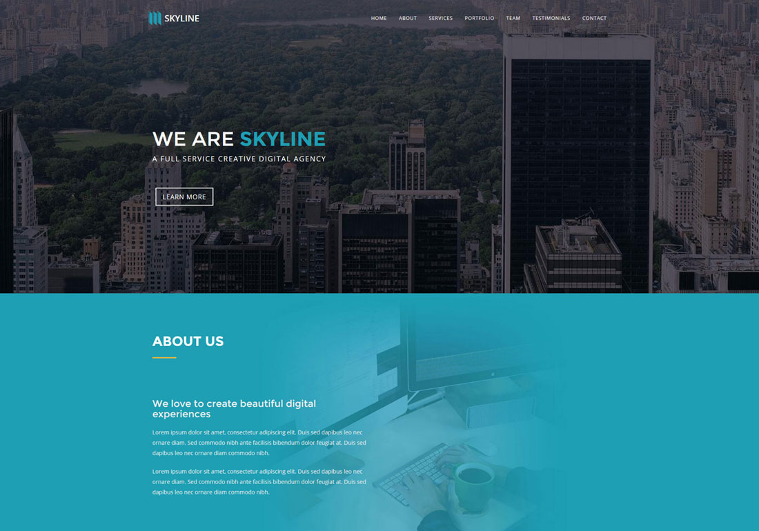Skyline One Page Template