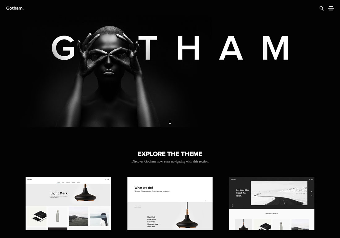 Gotham - Creative WordPress Theme
