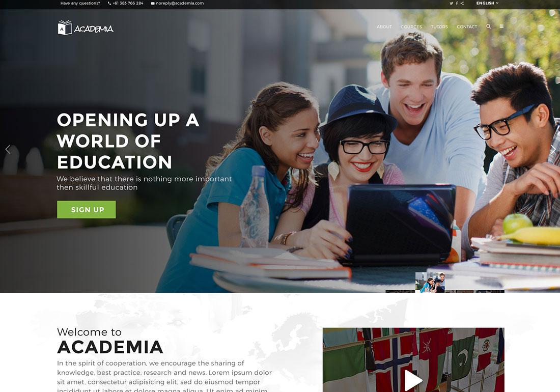 Academia Education WordPress Theme