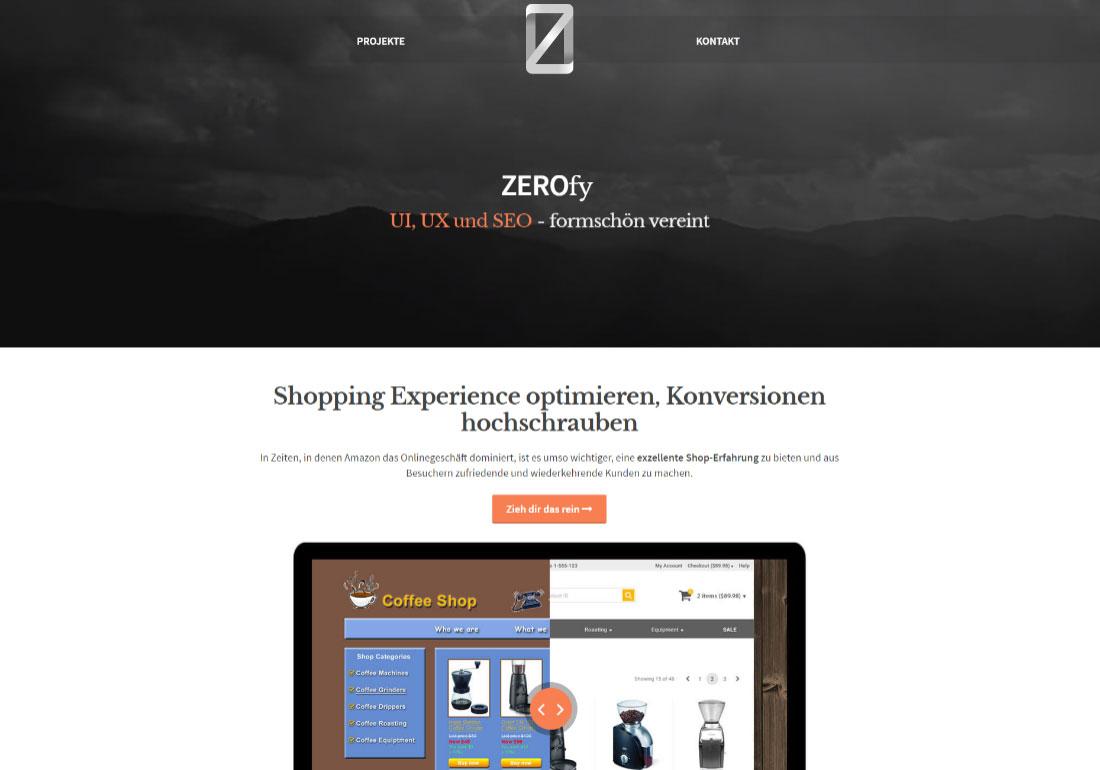 ZEROfy - SEO, UI, UX