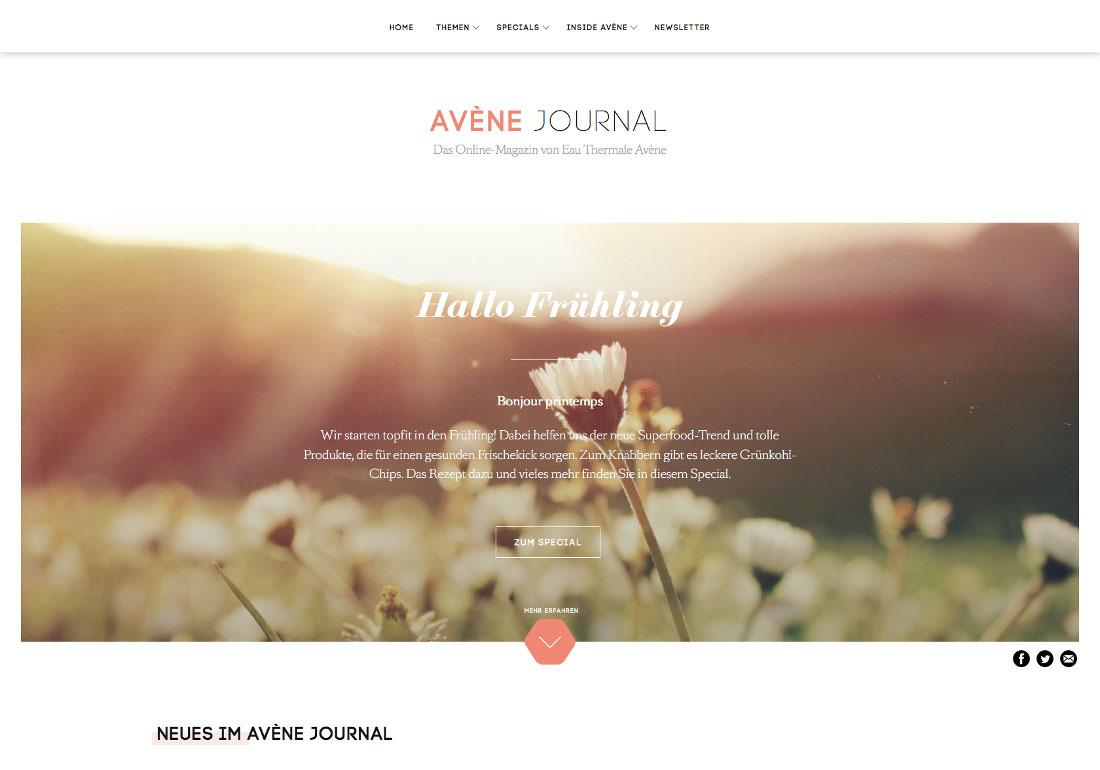 Avène Journal