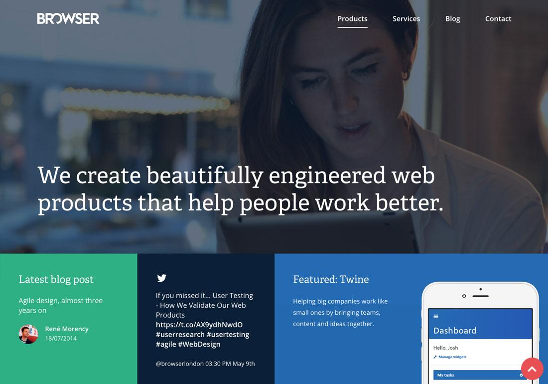Browser London agency website