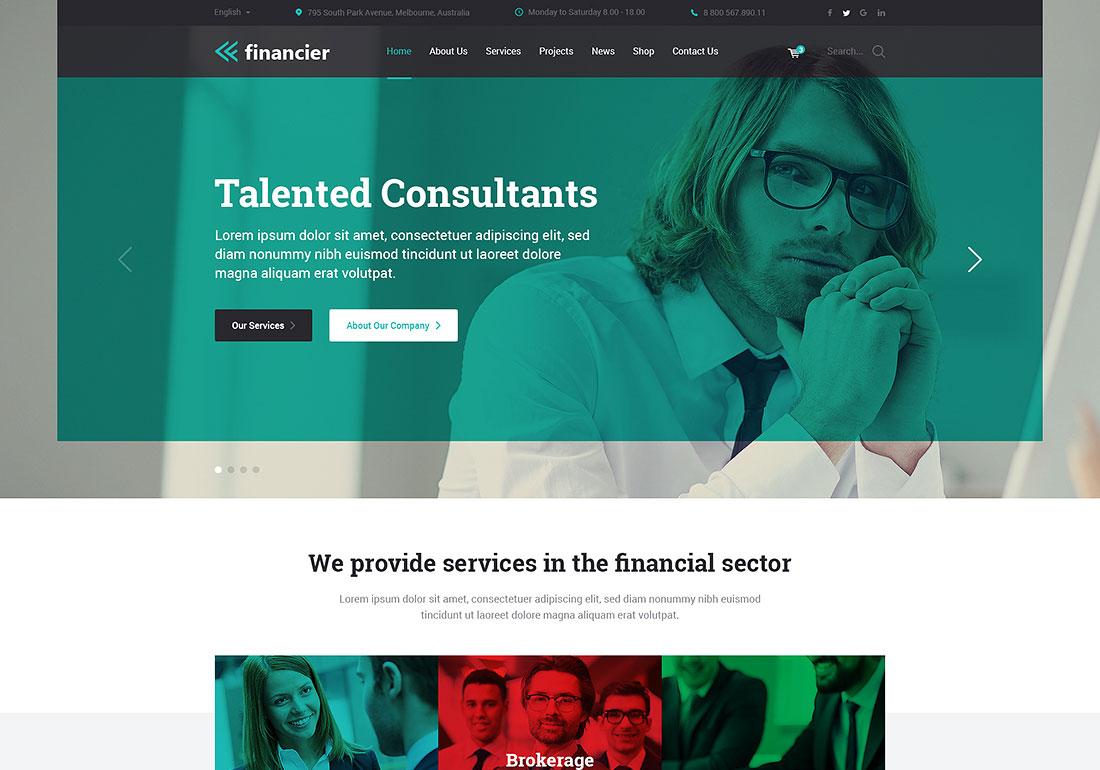 Financier - Finance WordPress Theme