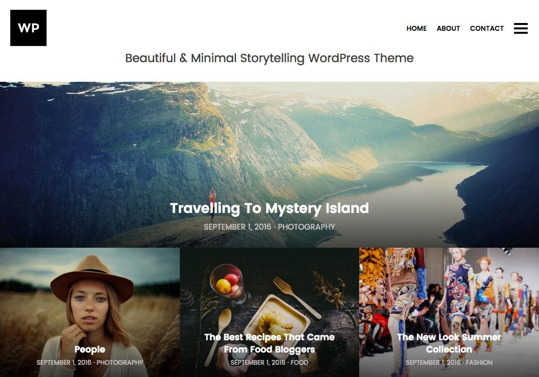 Minimal Storytelling WP Theme