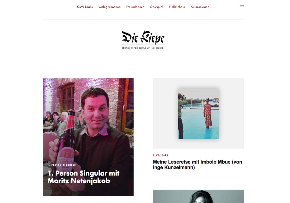 Kiepenheuer & Witsch Blog
