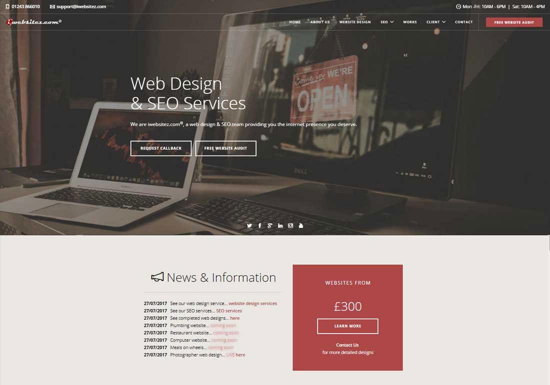 iwebsitez.com - Web Design and SEO