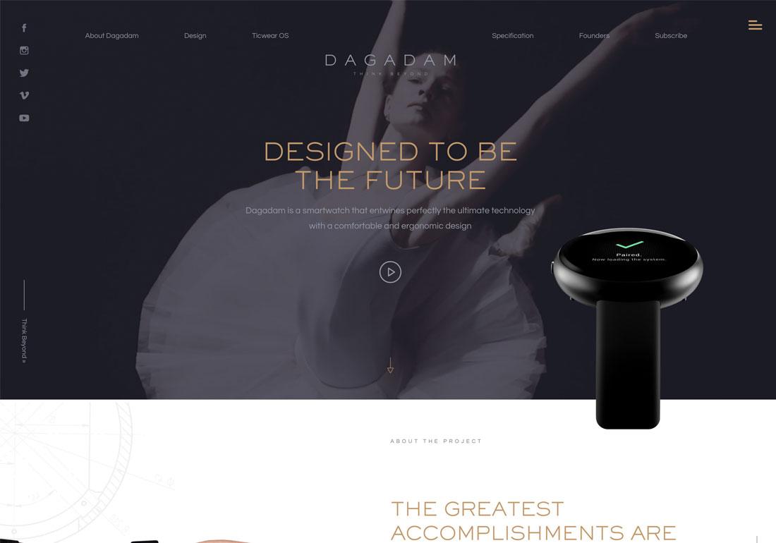 Dagadam Smartwatch website
