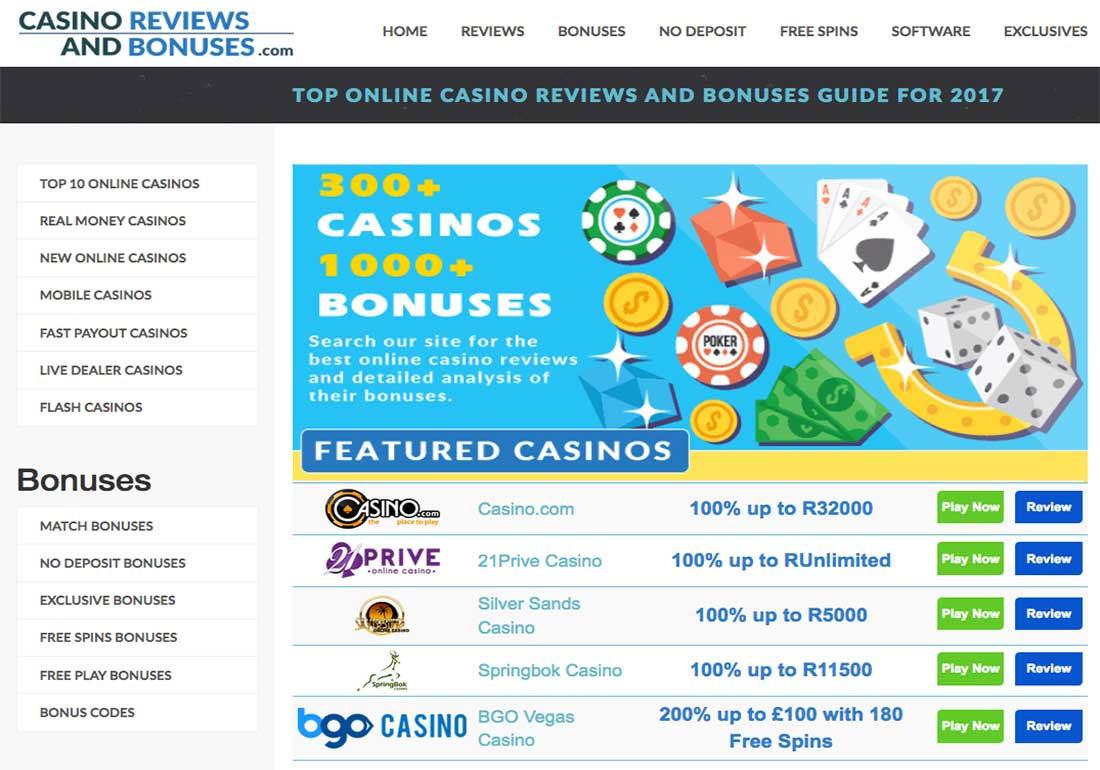 CasinoReviewsAndBonuses.com