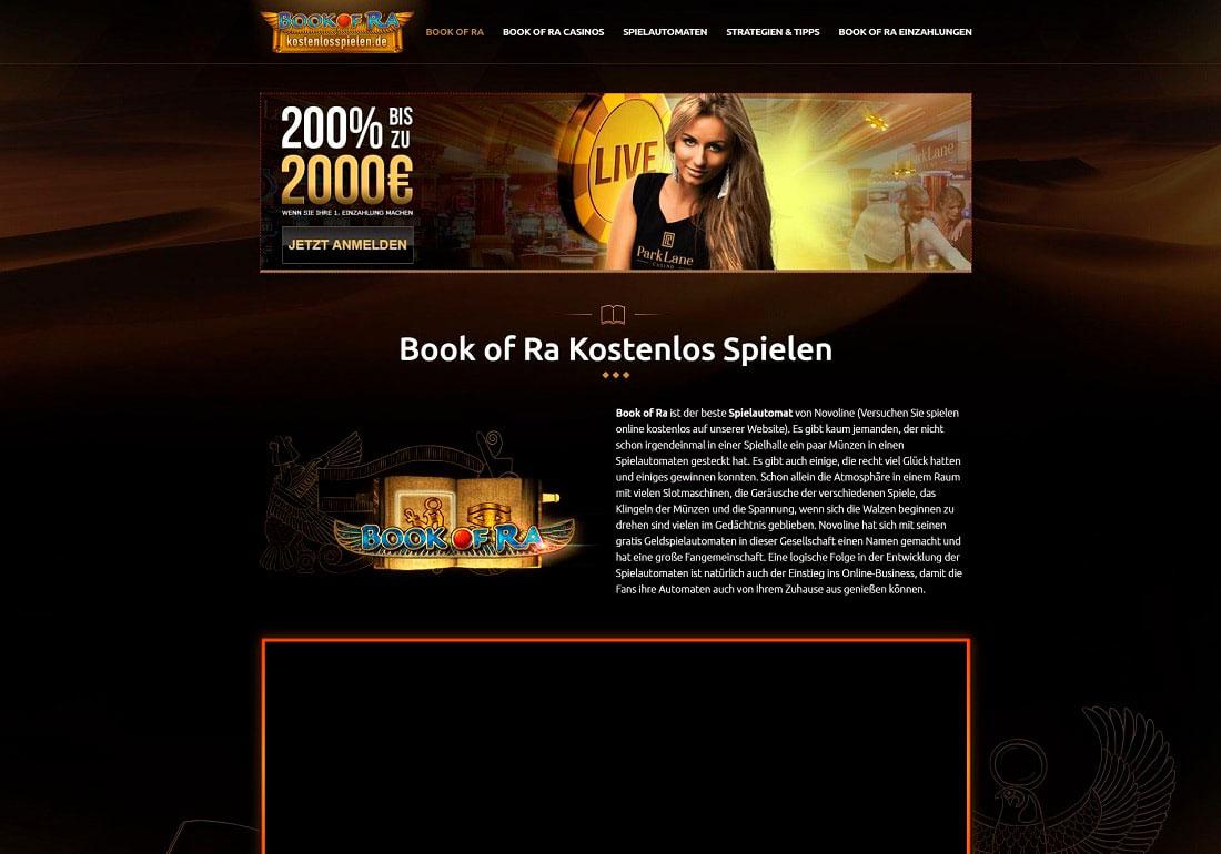 Book of Ra kostenlosspielen