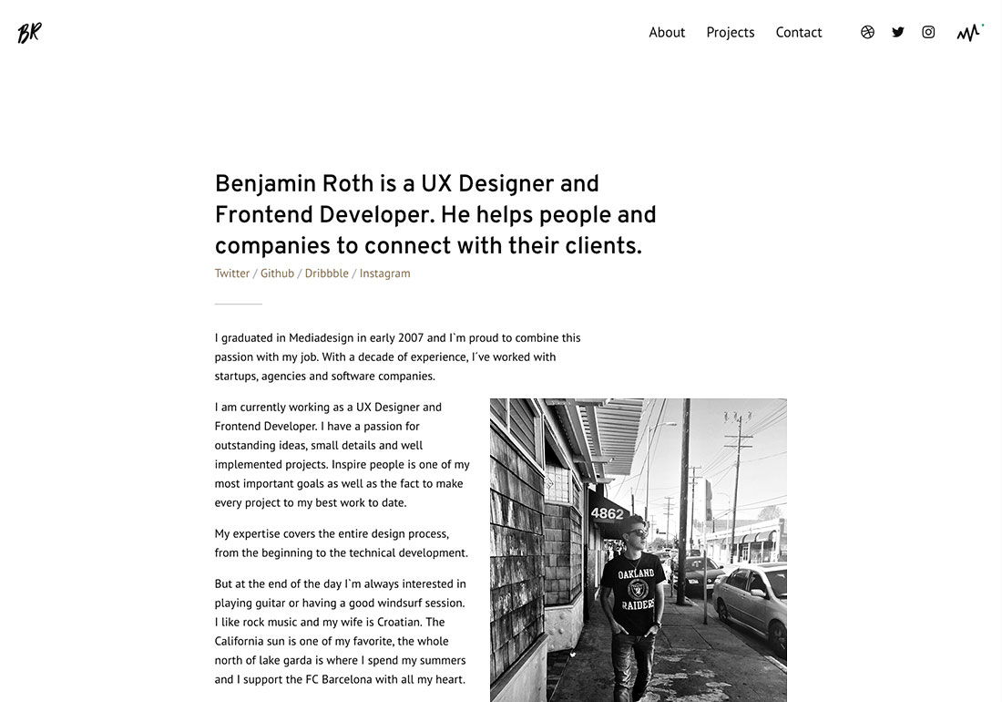 Benjamin Roth. UX Designer and Fron