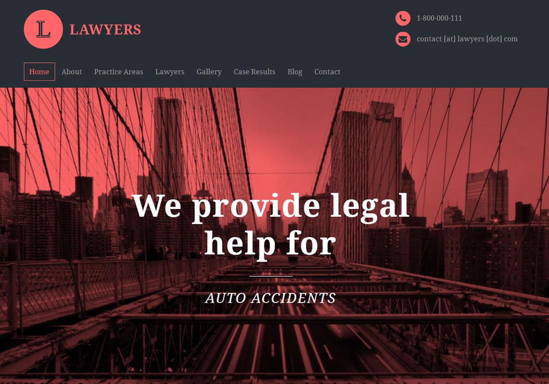 Lawyers Attorneys WordPress Theme