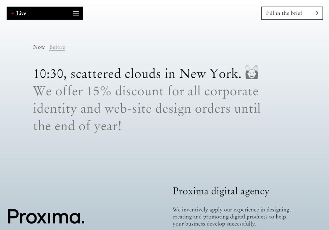 Proxima — full service creative dig