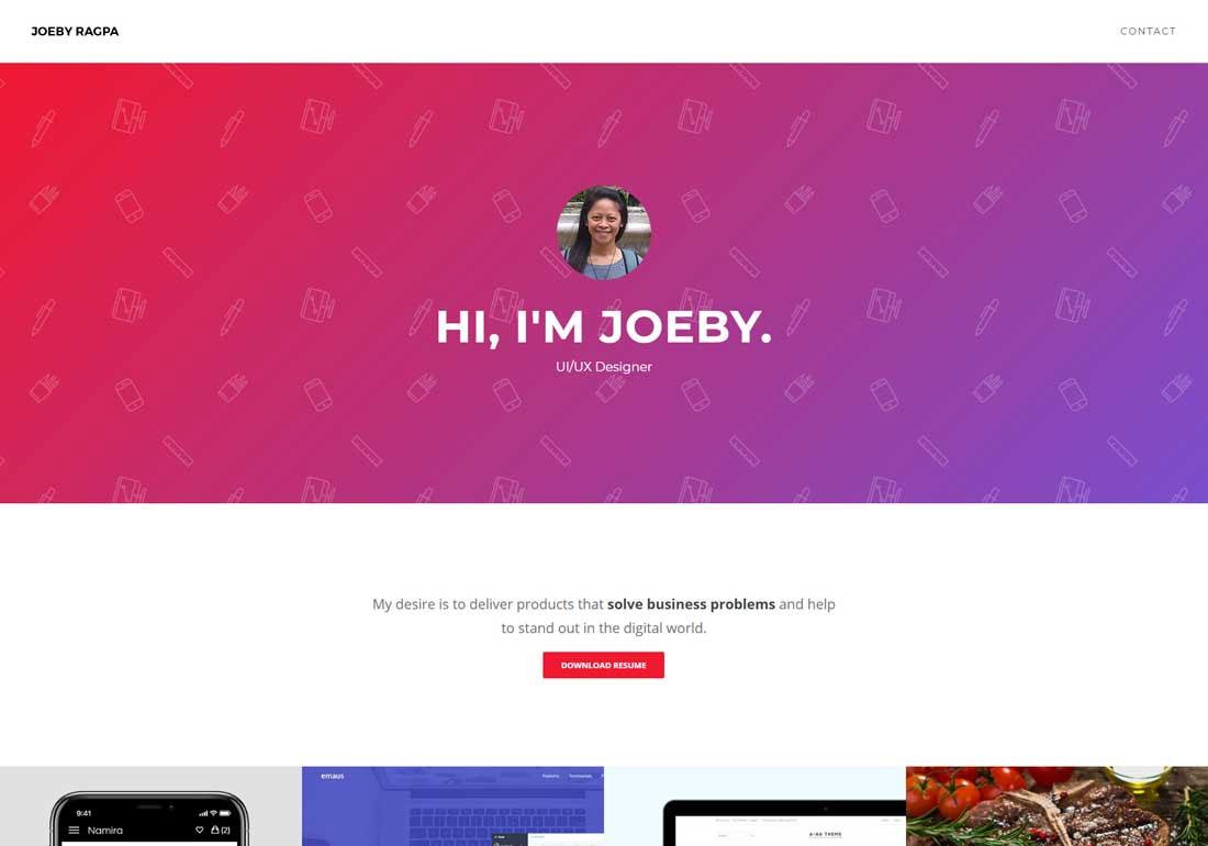 Joeby Ragpa | UI/UX Designer