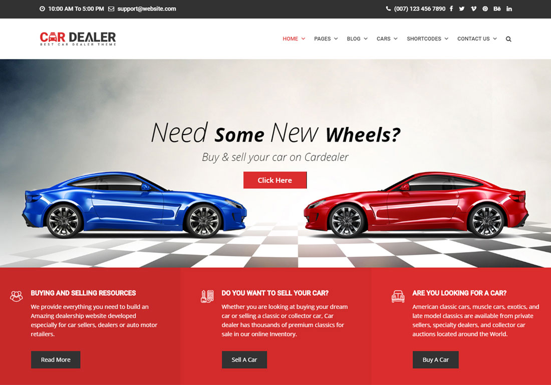 Car Dealer Automotive WP Theme