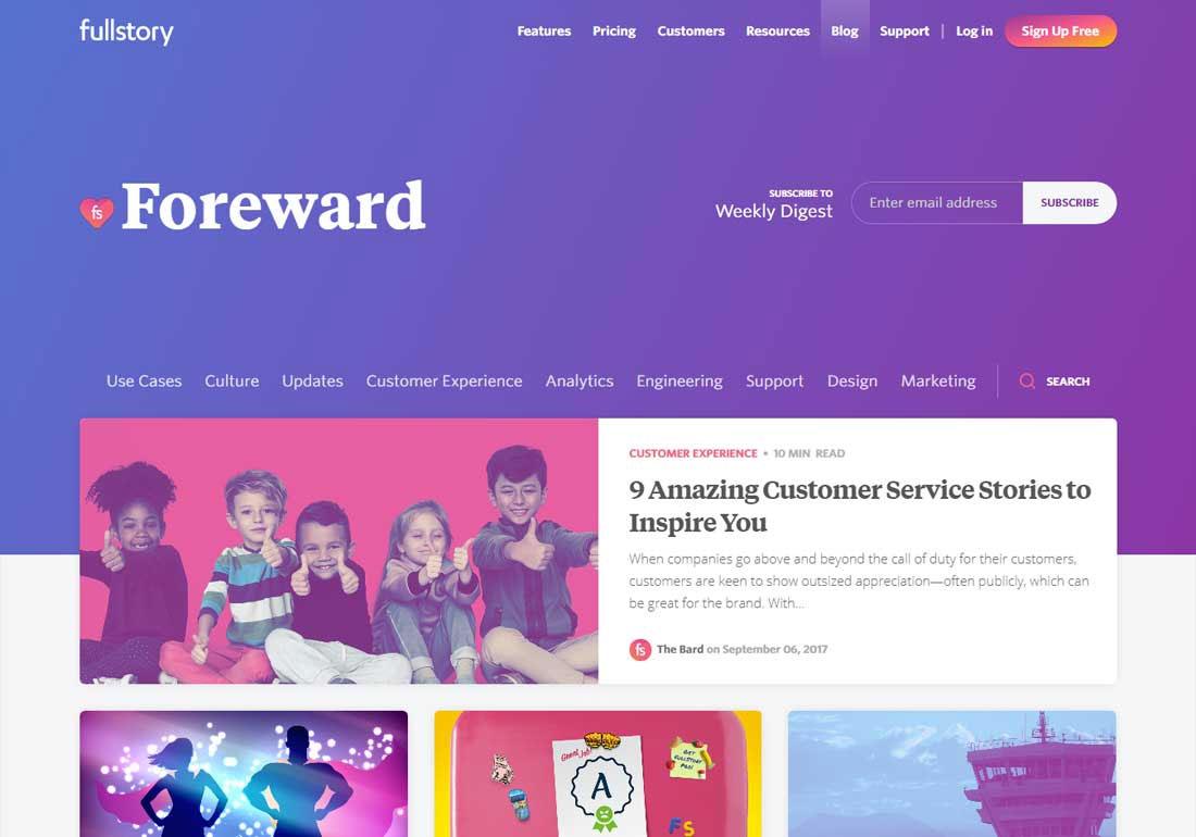 Foreward - Blog by FullStory