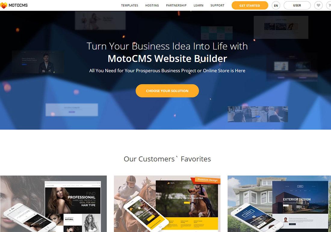 MotoCMS Quick Website Builder