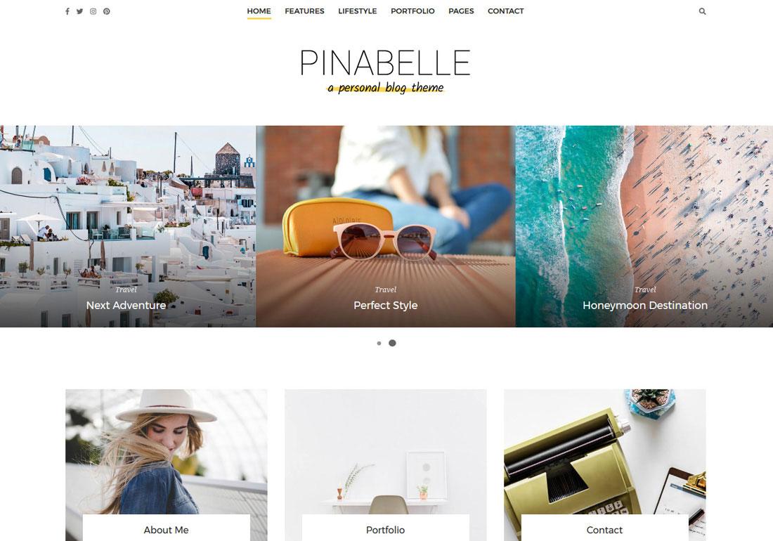 Pinabelle WordPress Blog Theme