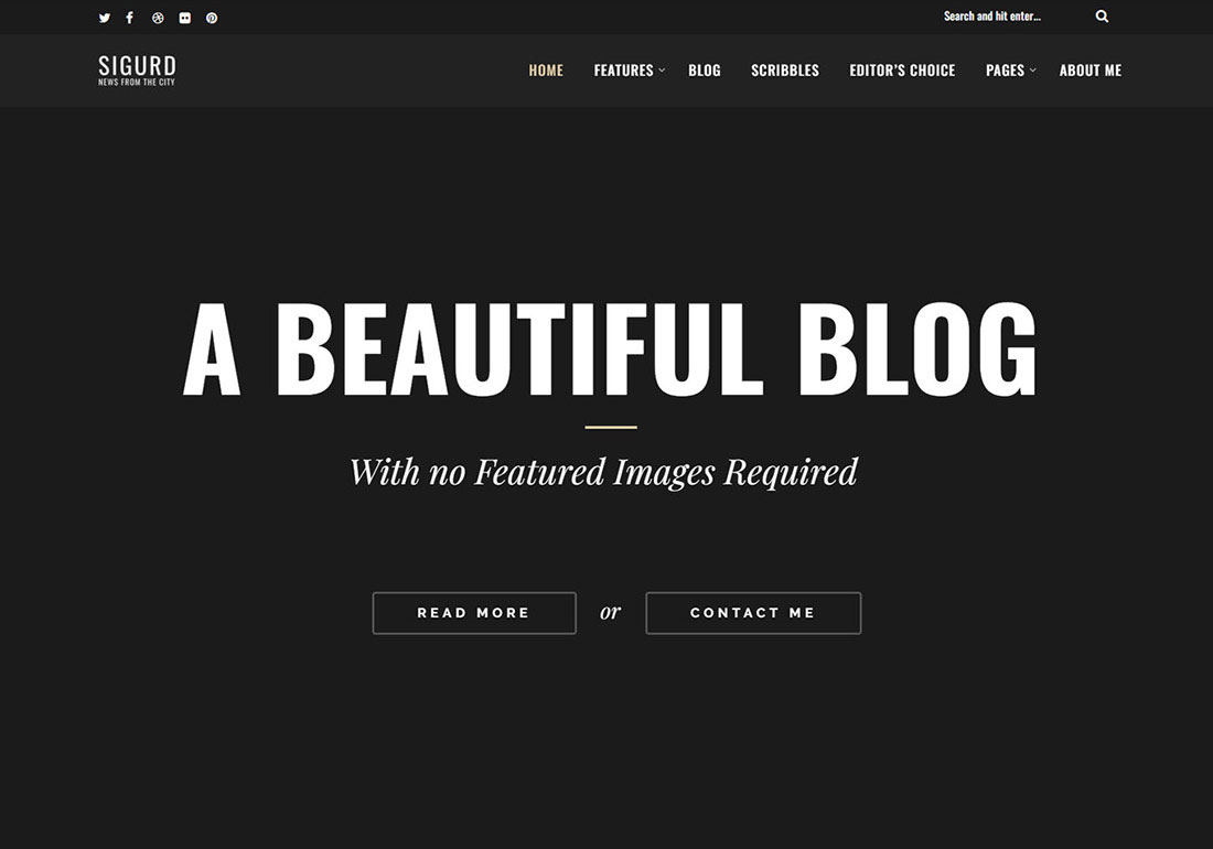 Sigurd – A WP Blog For Writers