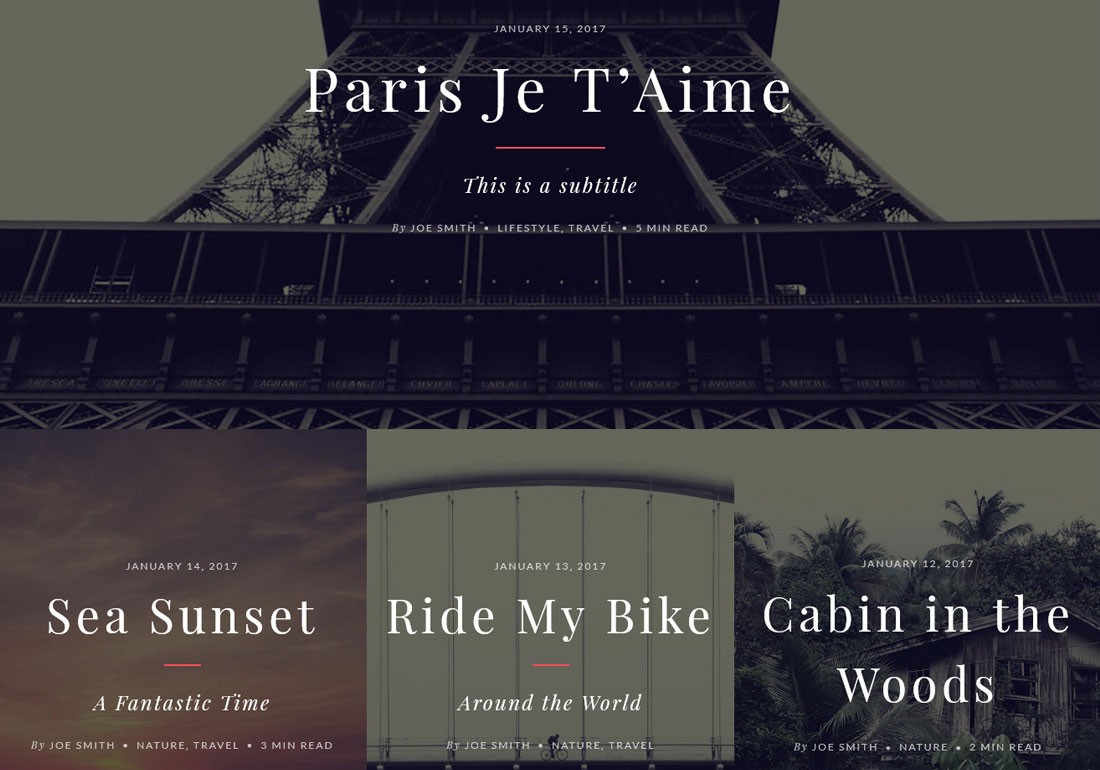 Evoke Photo Travel Blog Theme