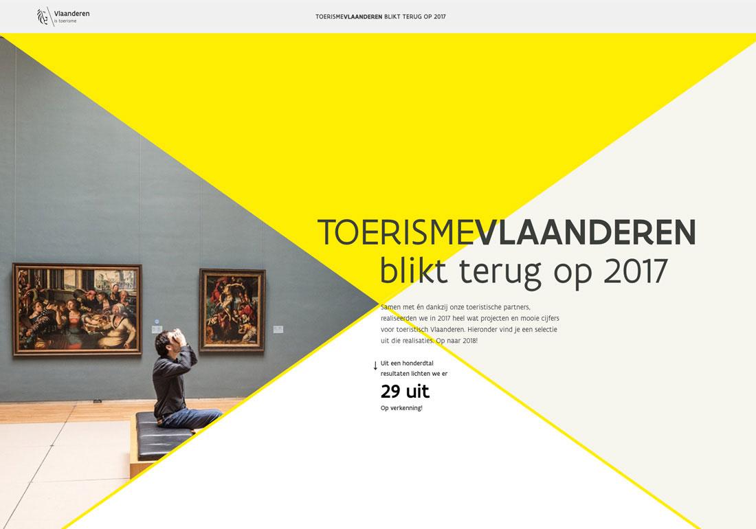 Toerisme Vlaanderen - Resulaten 2017