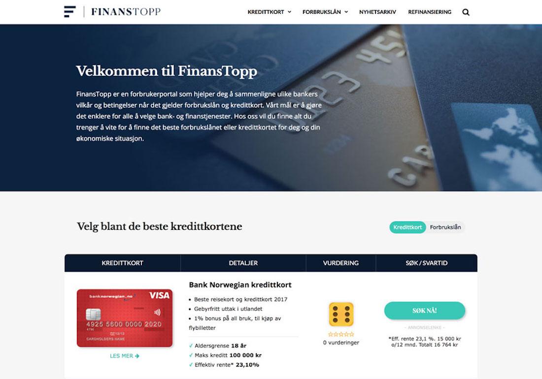 FinansTopp.no - Billig Forbrukslån