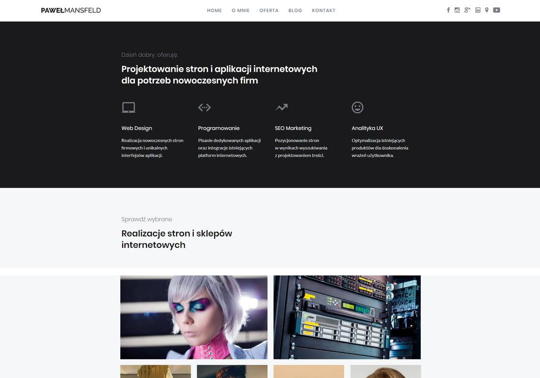 Paweł Mansfeld - web design