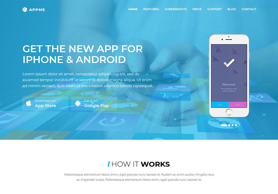 AppMe - App Landing Page WP Theme