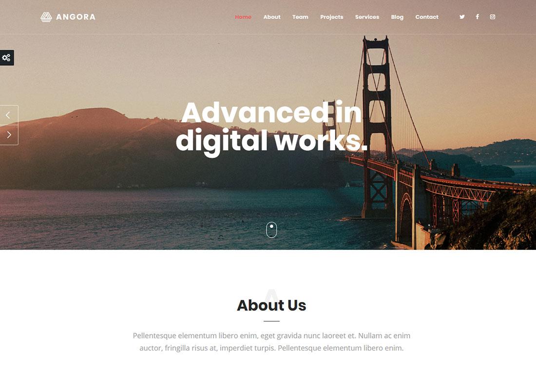 Angora - One Page WordPress Theme