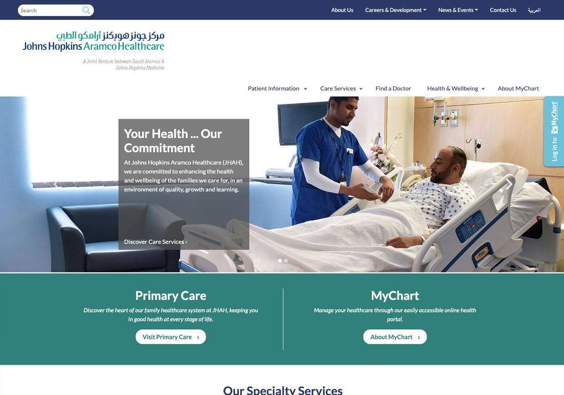 Johns Hopkins Aramco Healthcare - CSS Winner
