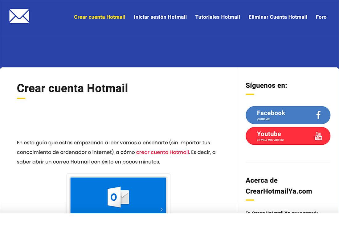 Crear Hotmail Ya